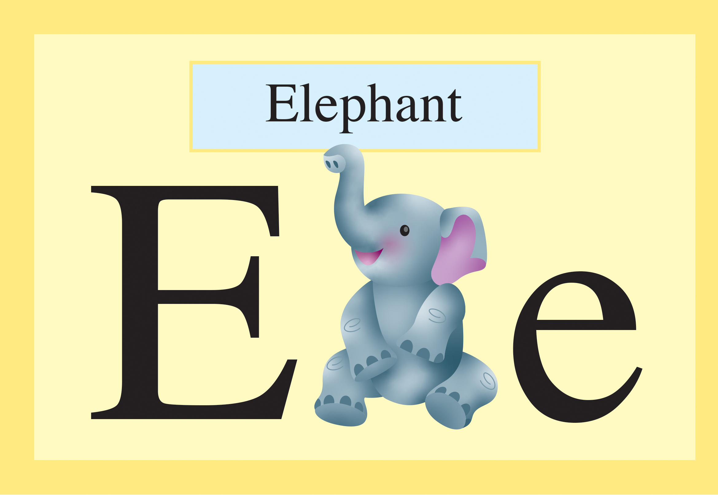 slide 2  Animal Books - ANIMALBET! A to Z, by Bonnie Lady Lee and Peter Zafris. [Excerpt] E is for elephant.