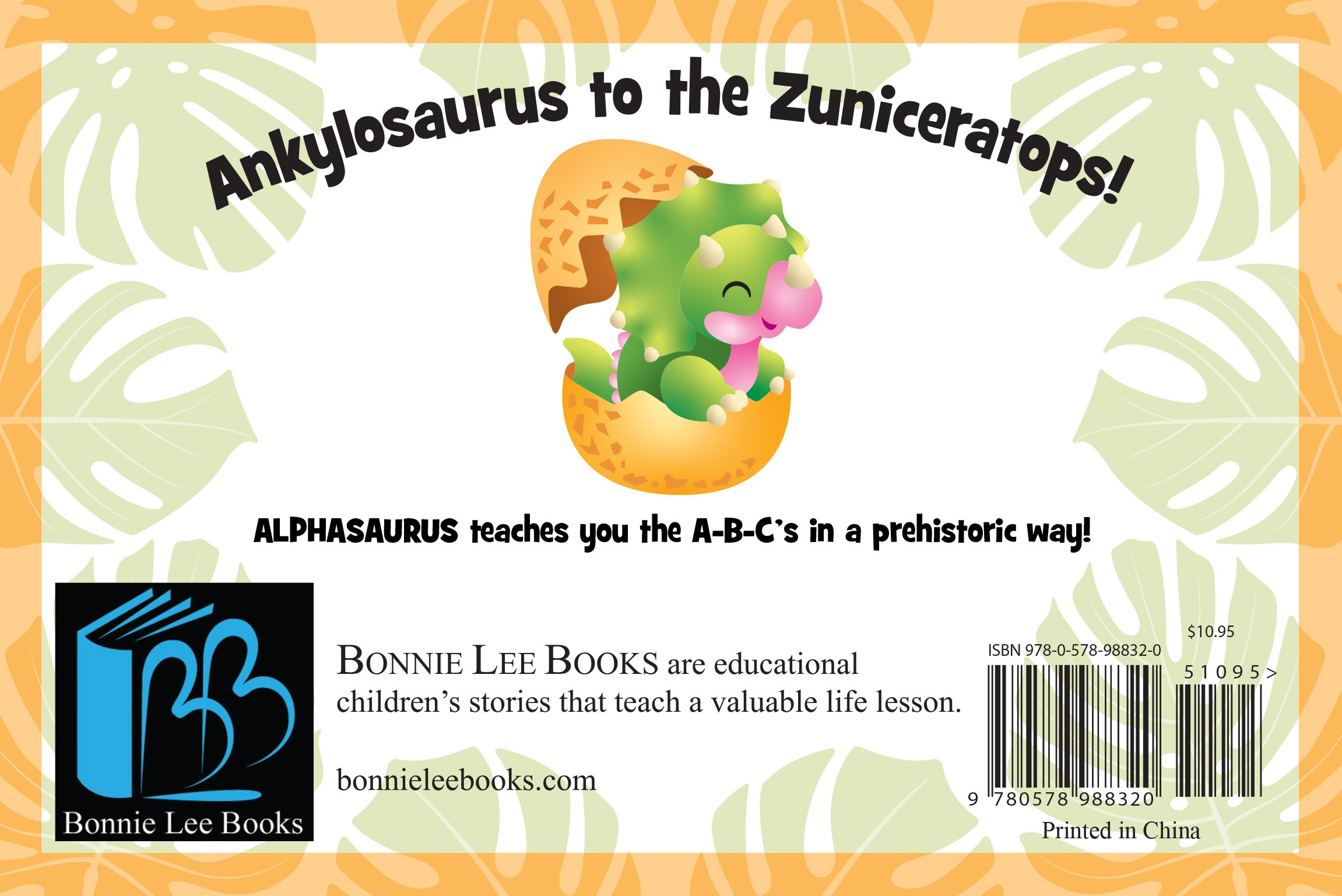 Anklyosaurus to the Zuniceratops. ALPHASAURUS by Peter Zafris teaches your child the A-B-C's in a prehistoric way!