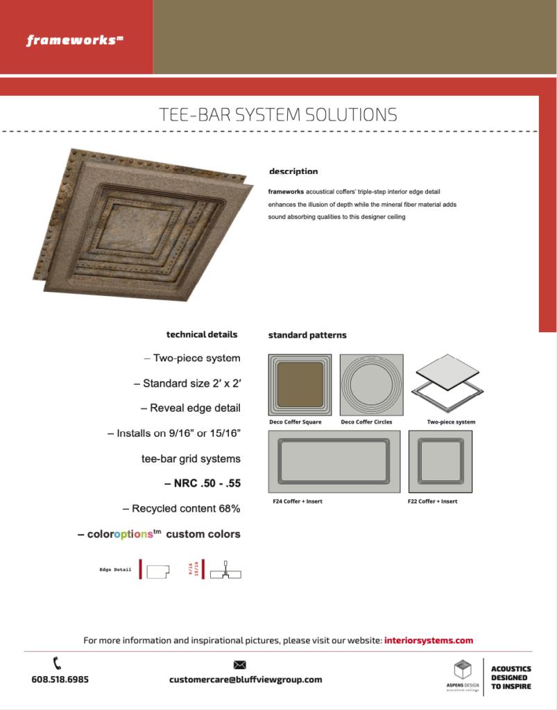 Frameworks Tee Bar Grid Solutions