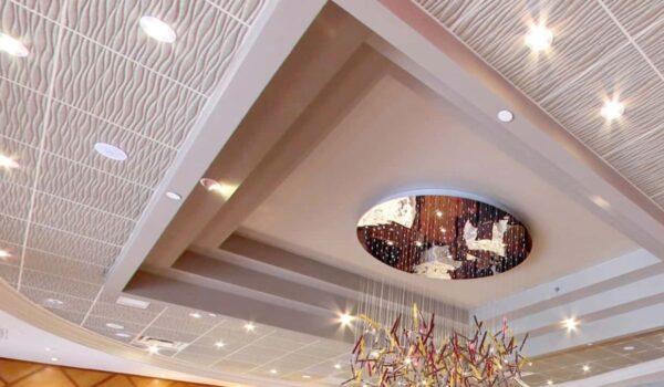 Contoura Acoustical Tiles in Custom color
