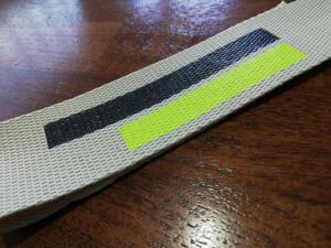 cinta con tira de color