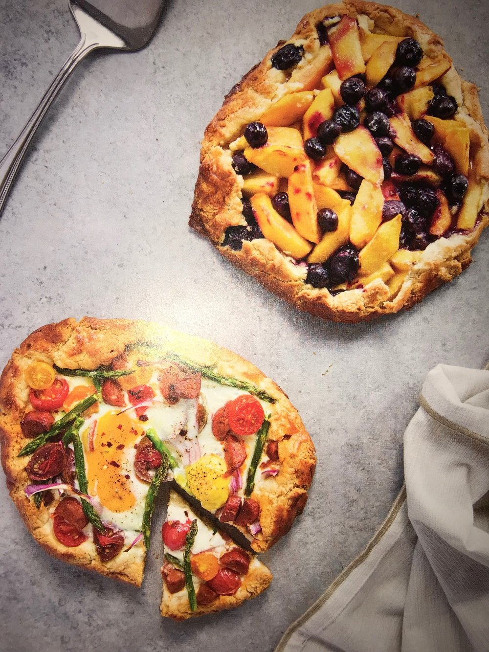veggie and fruit galettes