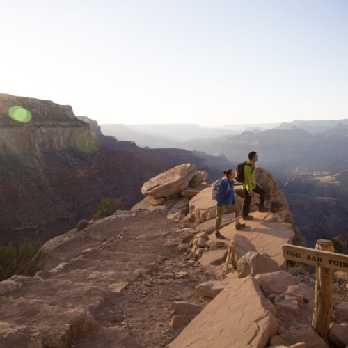 Aspen Integrative oncology doctors provide preventive cancer care.A young couple hiking in the Grand Canyon north of Flagstaff, Arizona.