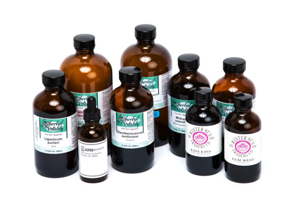 bottles of tinctures