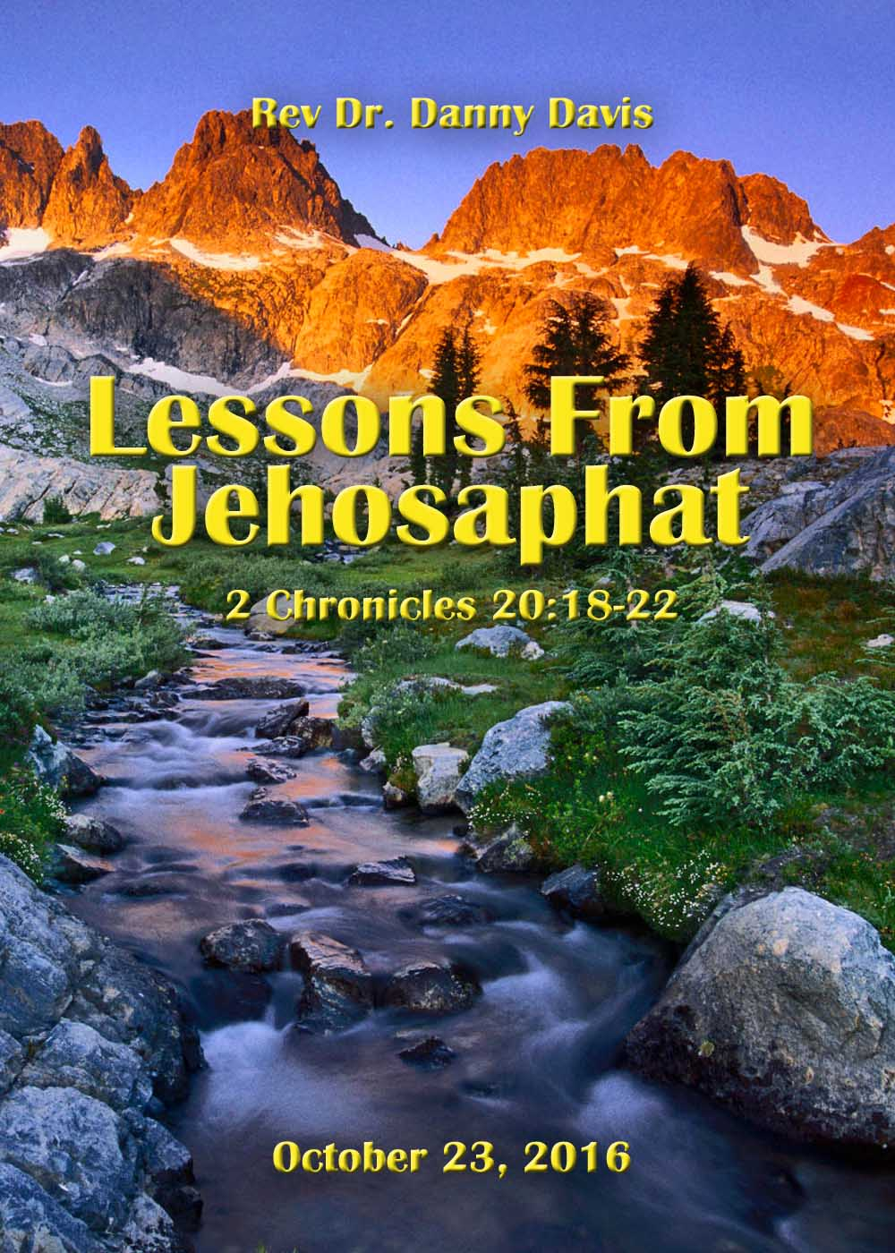 Lessons From Jehosaphat