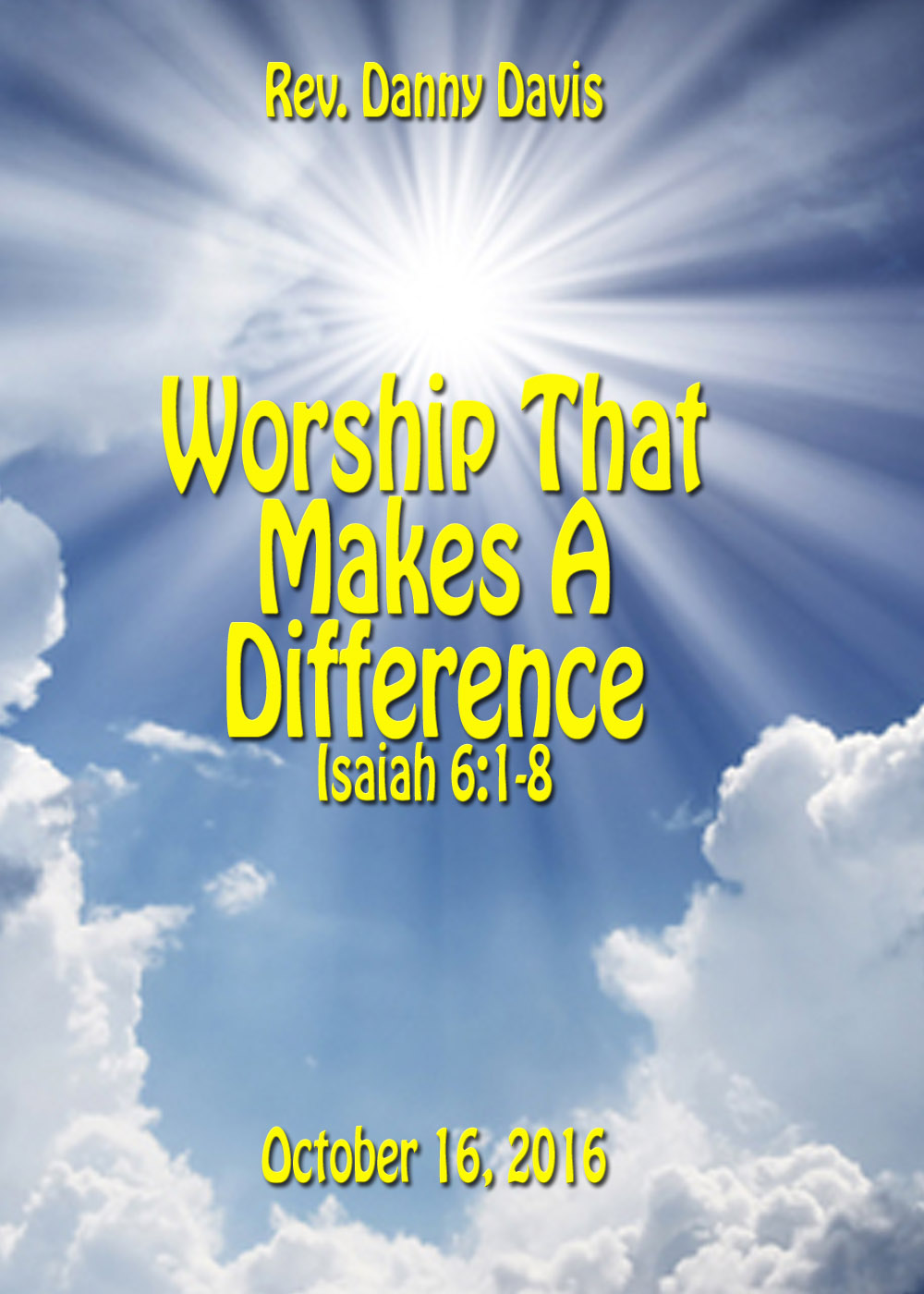 Worship That Makes A Difference