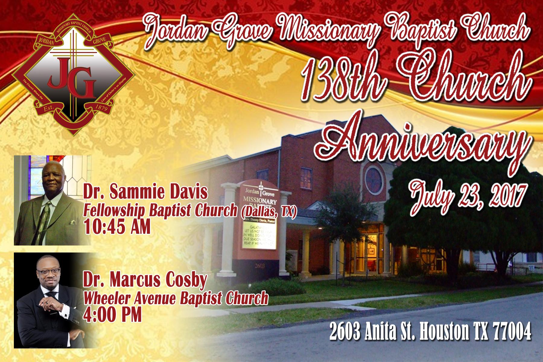 138th Church Anniversary