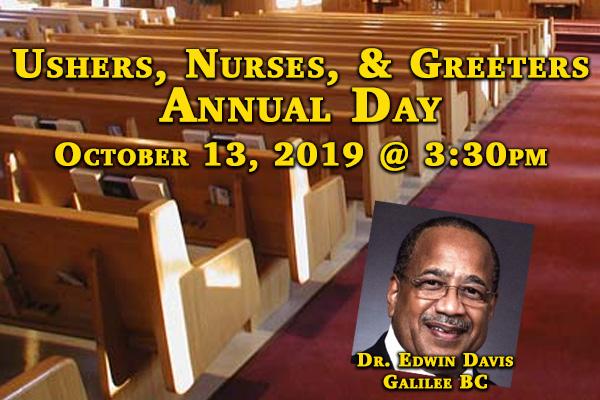 Ushers,Nurses, & Greeters Annual Day