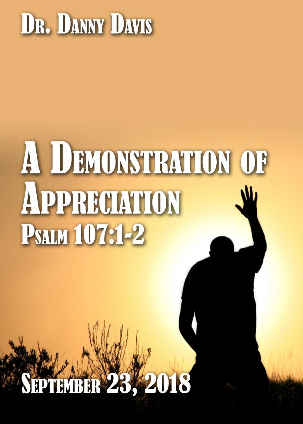 A Demonstration of Appreciation