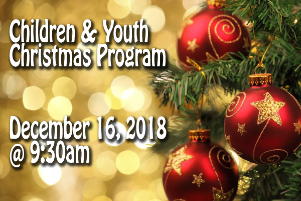 2018 Children & Youth Christmas Program
