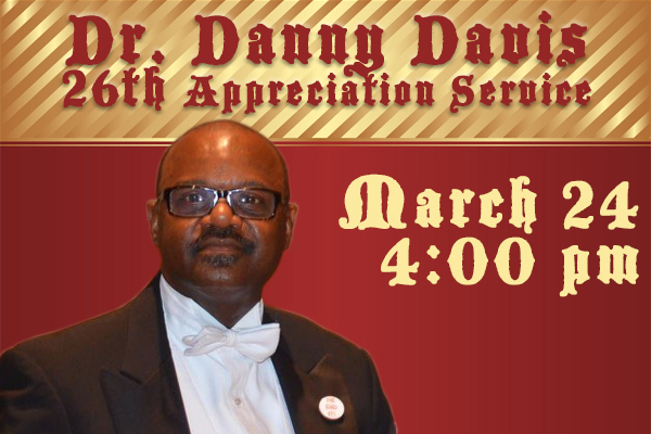 Dr. Danny Davis 26th Appreciation
