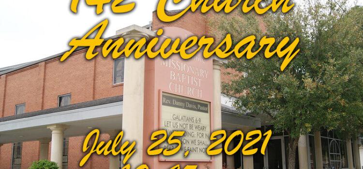 142nd Church Anniversary