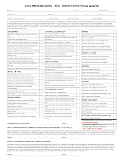 Tech Inspection Form Revised 2020