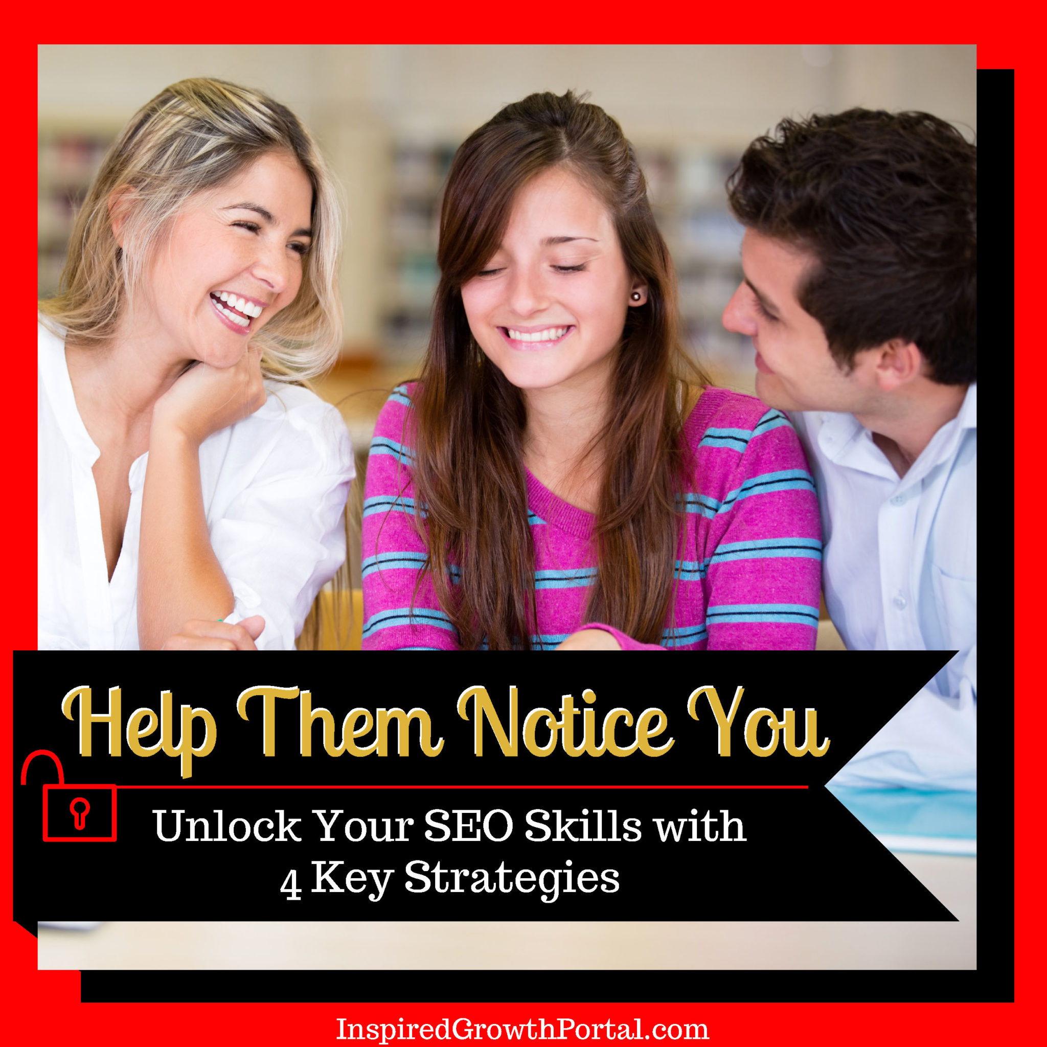 banner for key seo strategies mini course help them notice you