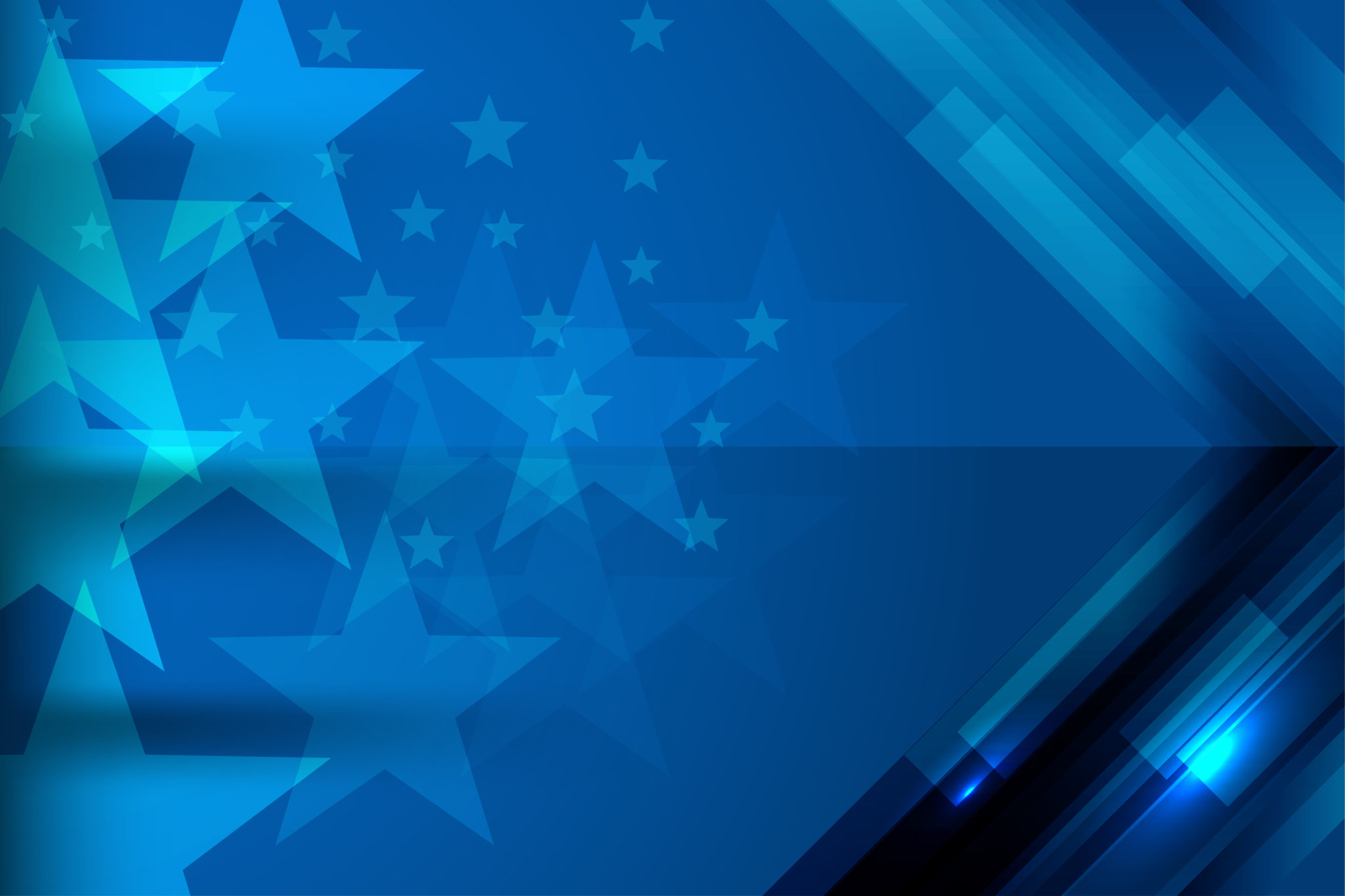 blue background stars stripes online business strategy
