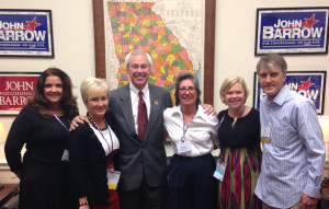 Donna Mullins and members of AIFBA delegation visiting Congressman John Barrow