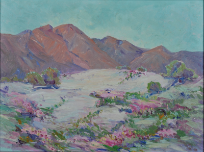"""California Desert Art Profiles Maurine St. Gaudens and """"Emerging from the Shadows"""""""