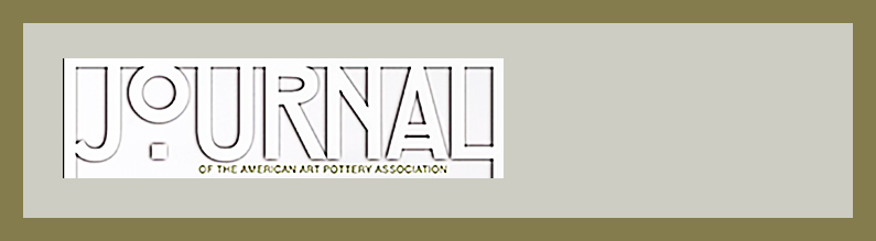 Journal of American Art Pottery Association profiles Emerging from the Shadows