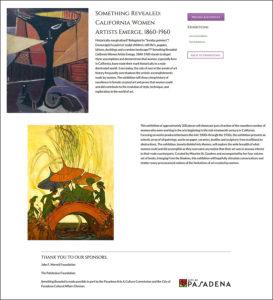 art exhibit, pasadena museum of history, female artists, emerging from the shadows, maurine saint gaudens