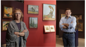 Maurine St Gaudens and Joseph Morseman at Exhibit