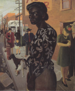 Elsie Palmer Payne, Bus Stop, Black woman, painting