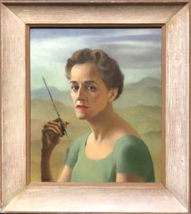 Ruth Miller Kempster, self portrait, oil painting