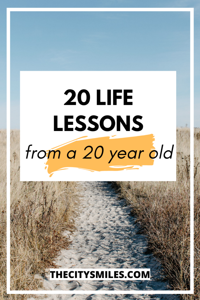 20 life lessons pin image