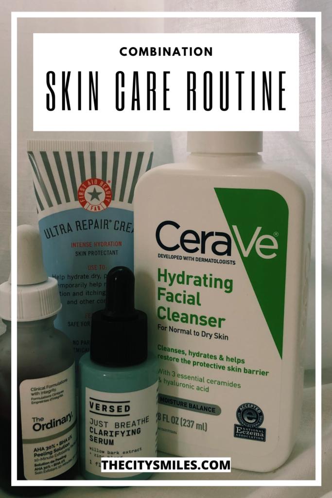 combination skin care routine