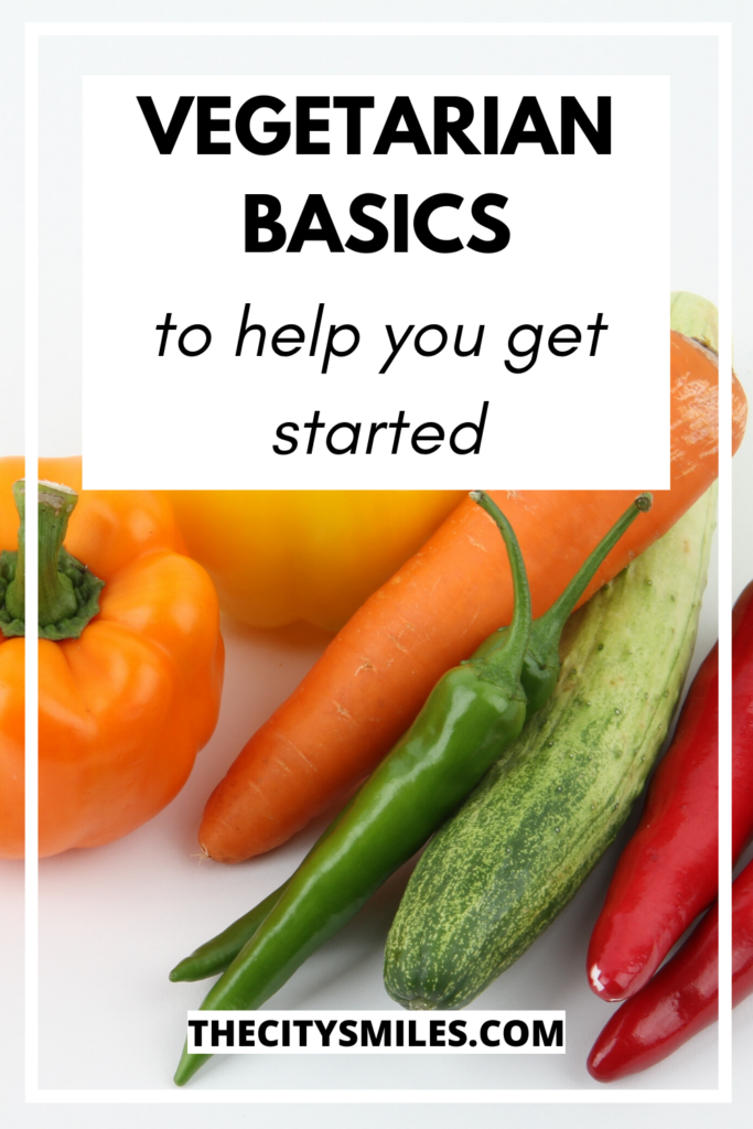 top 5 vegetarian basics pin image