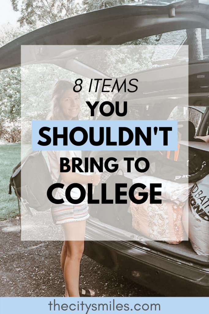 what you shouldn't pack for college pins