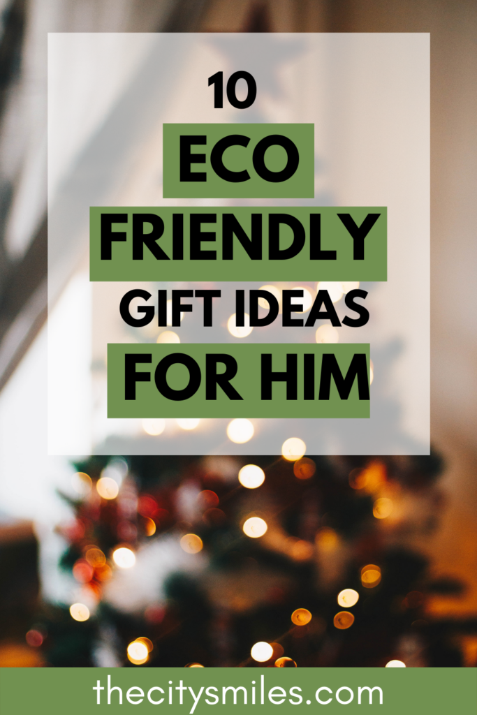 Sustainable Christmas gifts don't need to feel boring or pushy with these 10 eco friendly gifts for him! They are all super thoughtful presents for every kind of man that he will love for years to come. Shopping consciously is one of my most favorite sustainable living tips, and Christmas time is one of the easiest ways to practice it. Unique and special Christmas gifts for him is definitely the way to go this year.