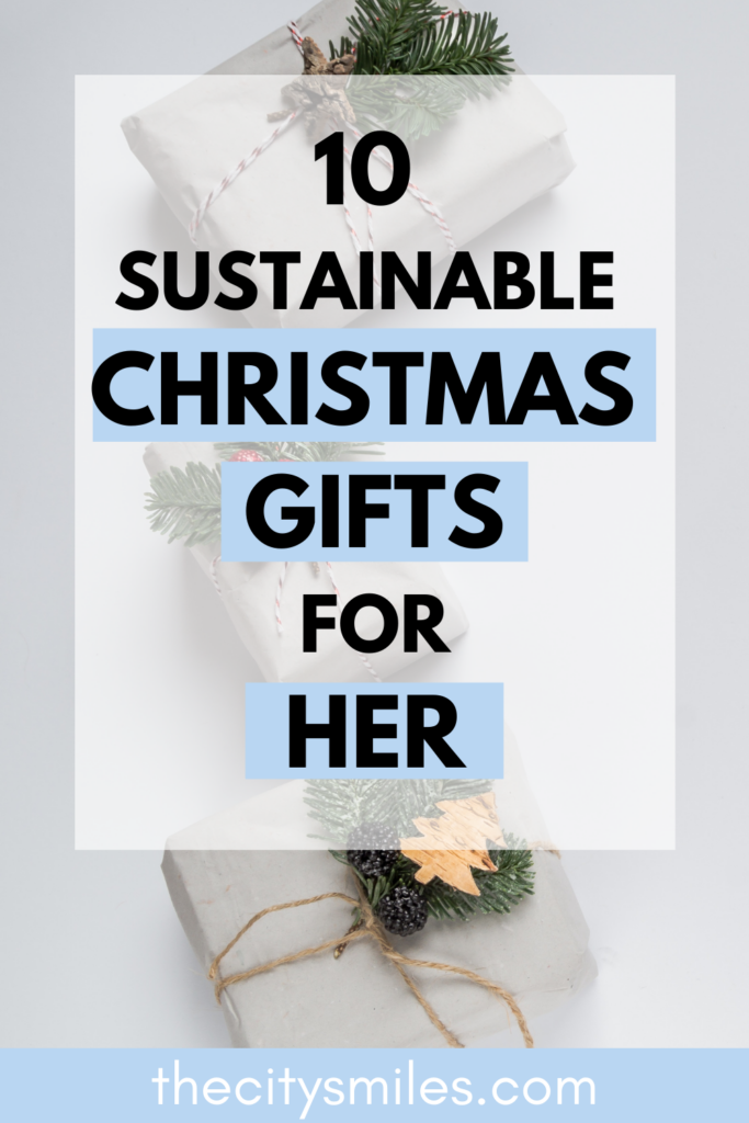 Did you know most people plan to do their Christmas shopping early and online this year? These 10 sustainable Christmas gifts for her are easy to have delivered right to your door while also keeping the planet in mind. Shop responsibly this Christmas and opt for these adorable eco friendly gifts for her!