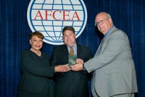 Mike winning AFCEA award