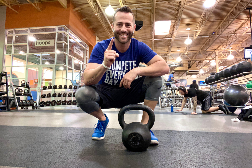 Jake Thompson, kettlebell challenge