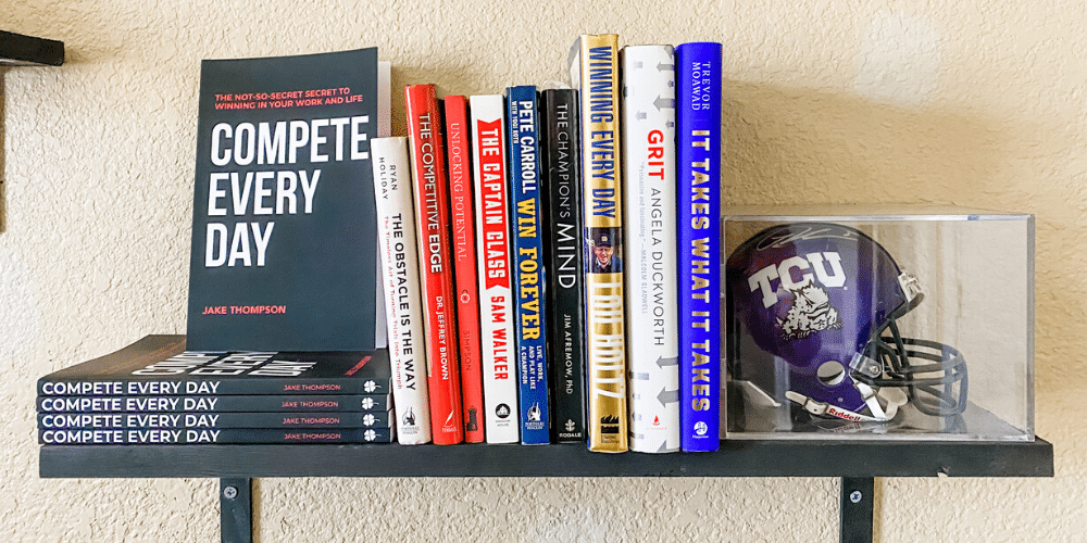 Compete Every Day book shelf