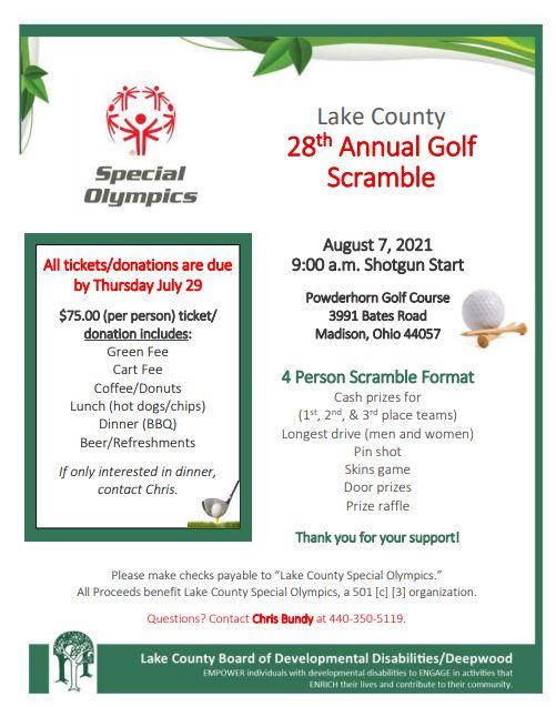 Lake County Special Olympics Golf Scramble