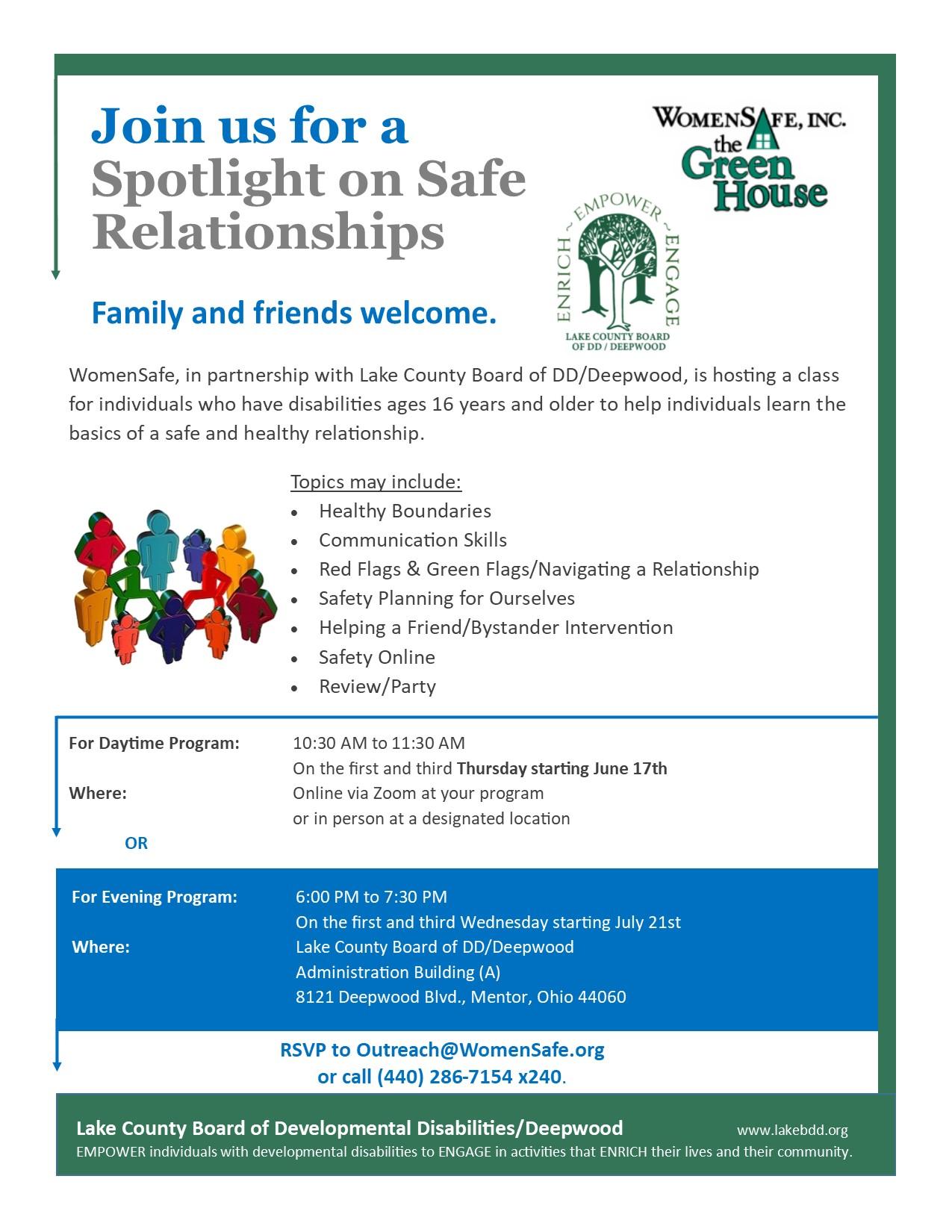 WomenSafe: Spotlight On Safe Relationships