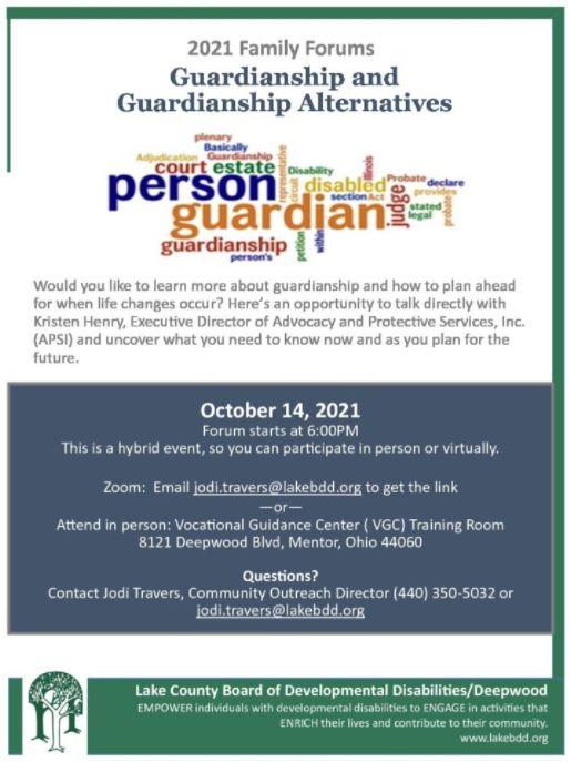 Family Forum: Guardianship