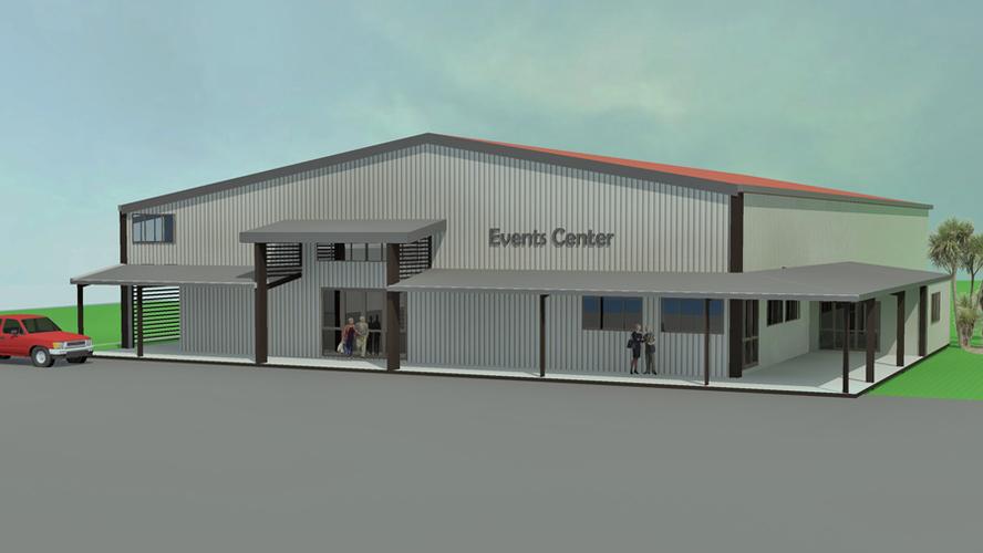 steel buildings, events center, 3d modelling