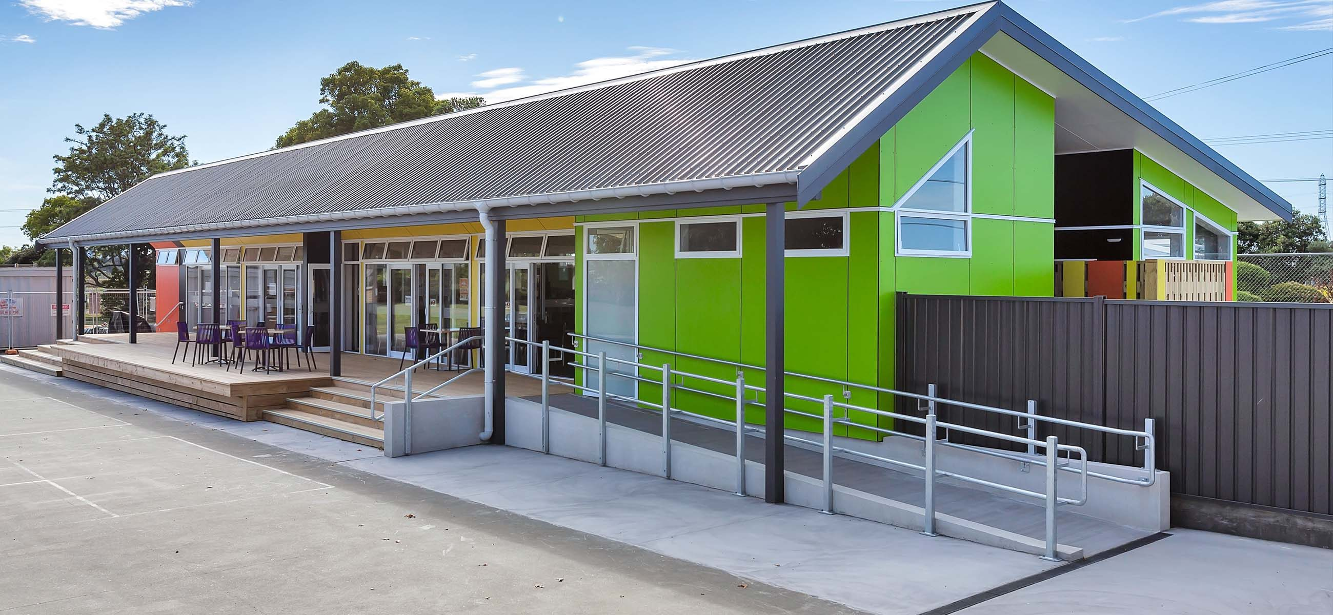 new school building construction, steel shed systems