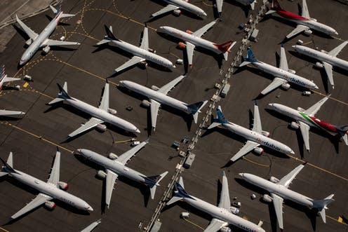 توقف طائرات شركات الطيران بسبب كورونا