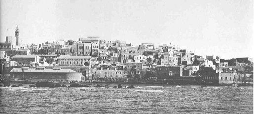 ميناء يافا في بداية القرن العشرين