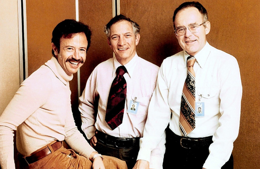 Robert Noyce, Gordon Moore, and Andy Grove ..