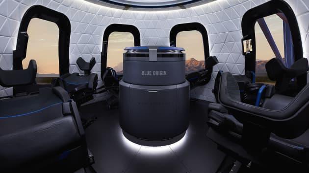 رحلة جيف بيزوس إلى الفضاء - شكل المركبة من الداخل
