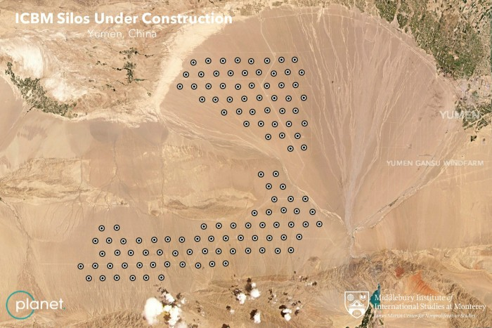 قوة الصين النووية : اكتشاف الخبراء أكثر من 200 صومعة صواريخ قيد الإنشاء في الصحاري النائية في الصين