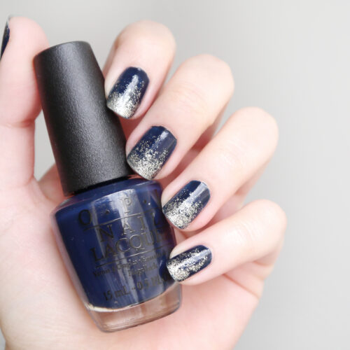 diy-nail-art-navy-silver-ombre