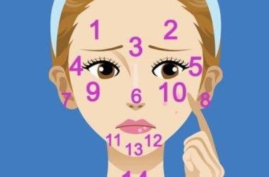 Giải mã nốt Mụn trên Mặt liên quan sức khỏe