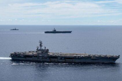 Tàu sân bay Hải quân Mỹ diễn tập ở Biển Đông ngày 14 tháng 8