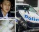 Simon Tu đang chở 260kg ma túy đá thì đụng bẹp xe Police