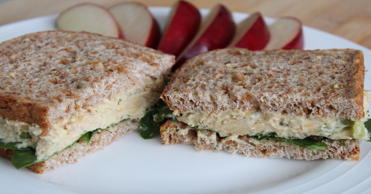Chickpea Salad Sandwich Trio